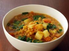 Indian Spice Pumpkin and Chickpea Soup
